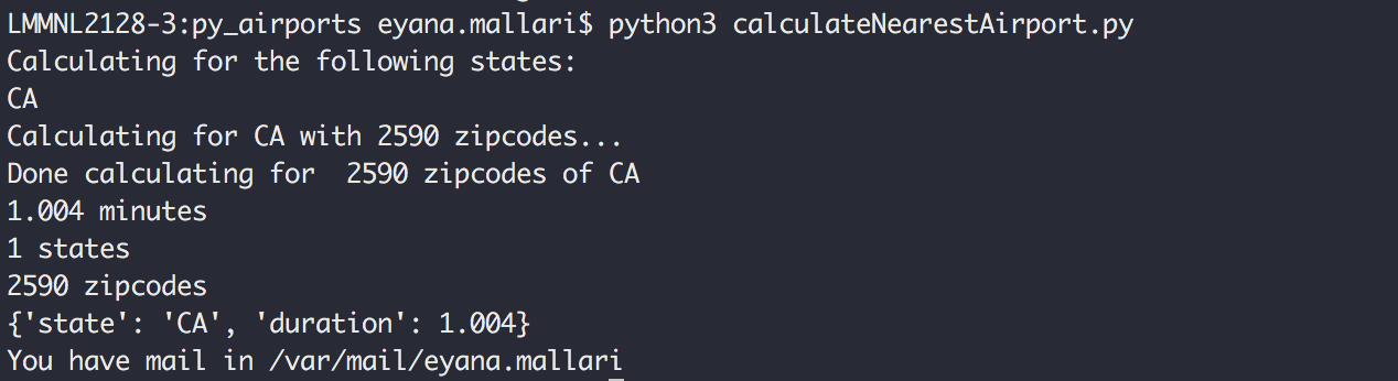 Calculate the nearest lat-long distance using Python | Eyana